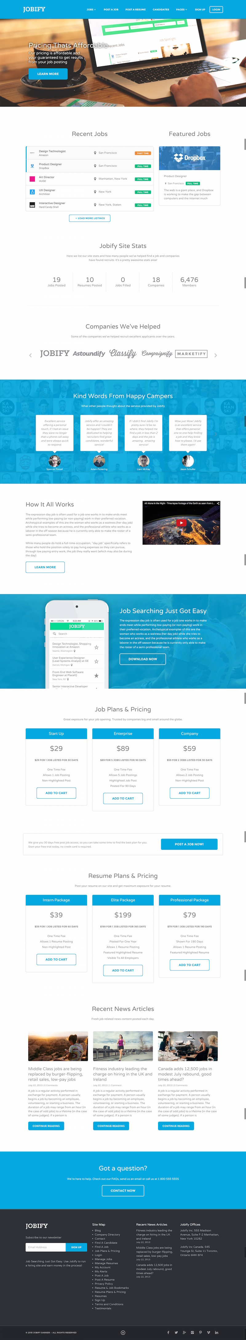 top wordpress job board themes 1 jobify