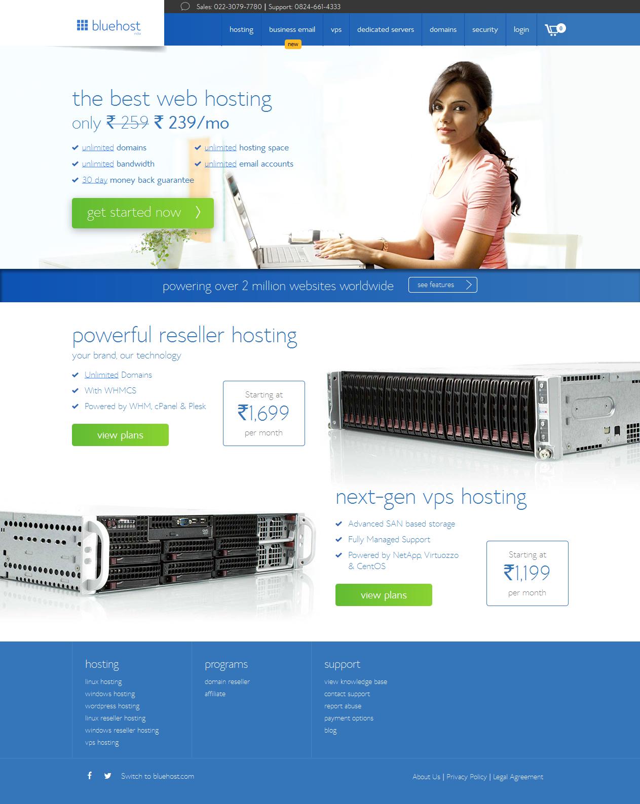 Web Hosting Company - India's Best Website Hosting Service Provider - BlueHost