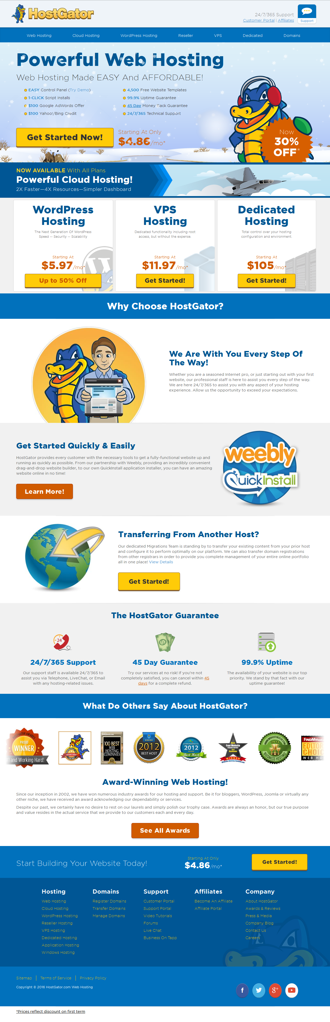 Website Hosting Services, VPS Hosting & Dedicated Servers - HostGator - falconhive