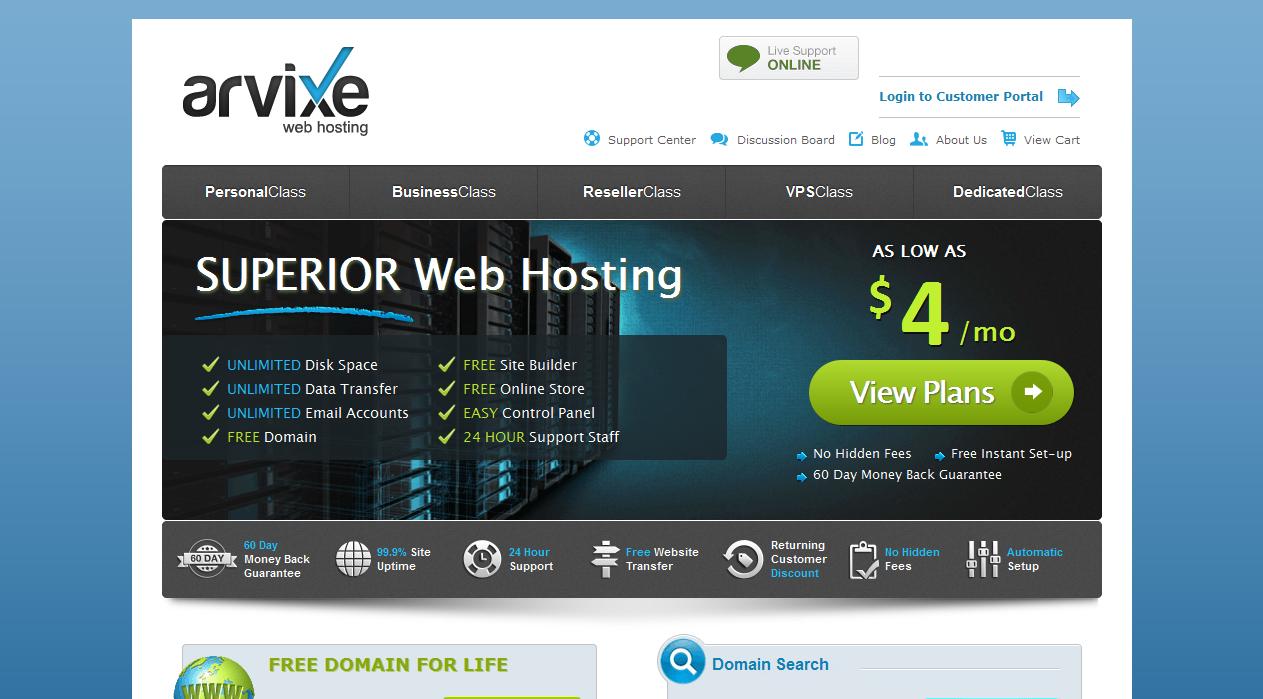 arvixe hosting