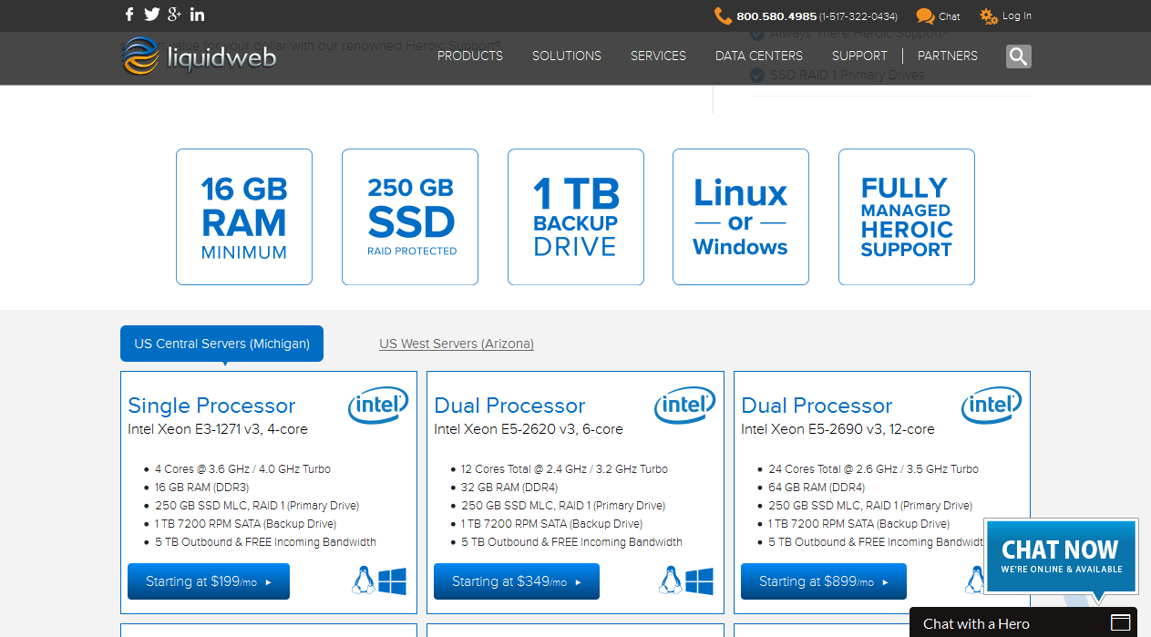 liquidweb dedicated hosting plans