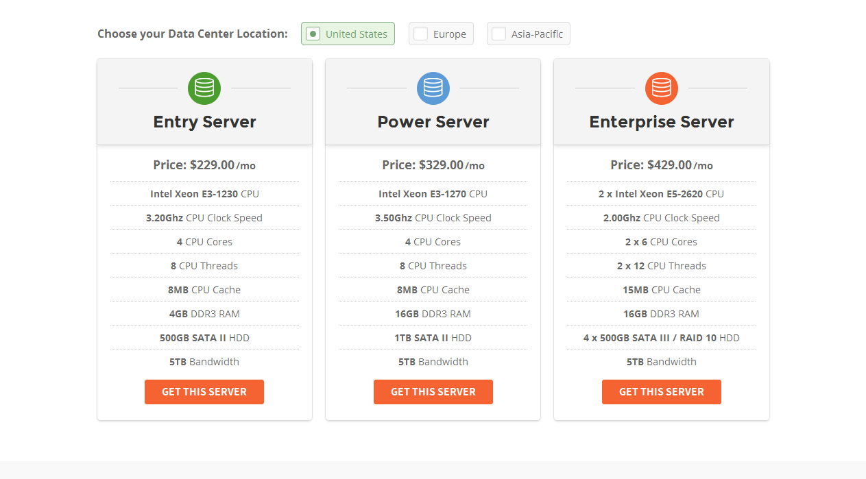 siteground dedicated server plans