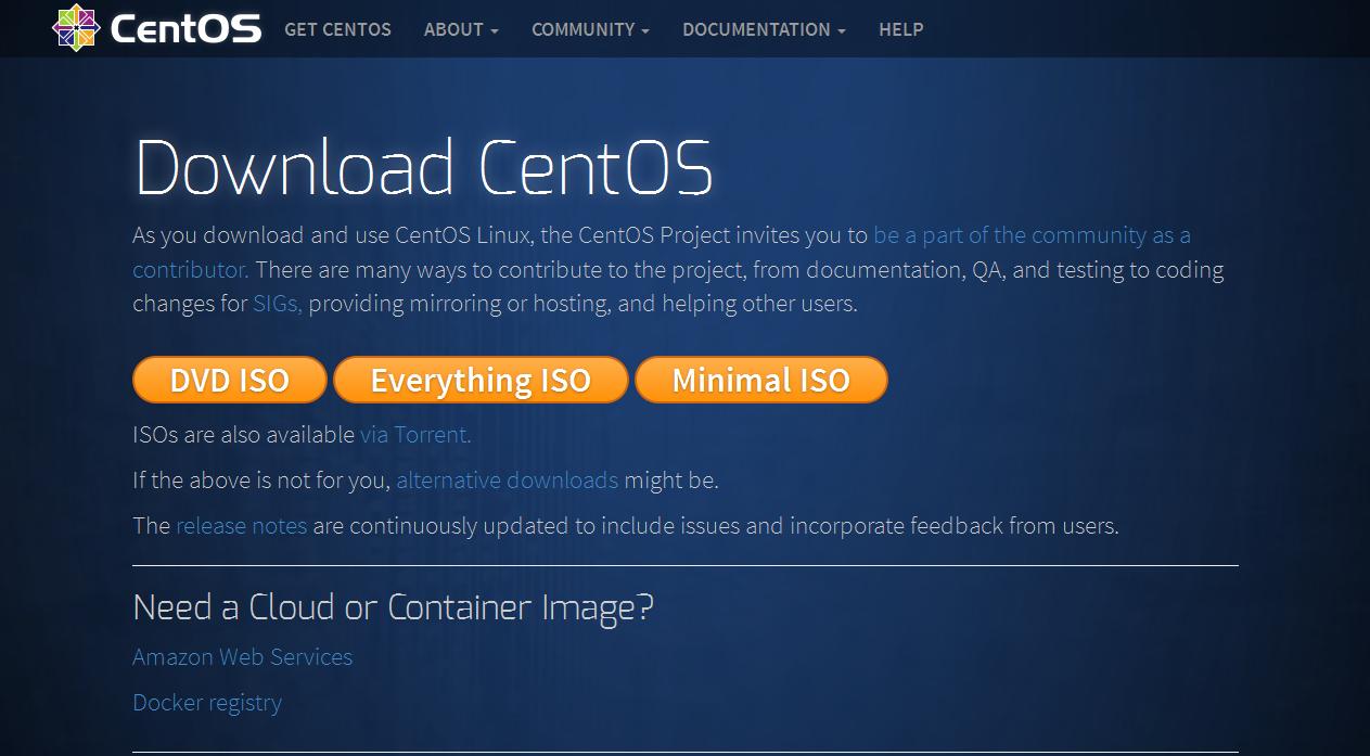 Download CentOS