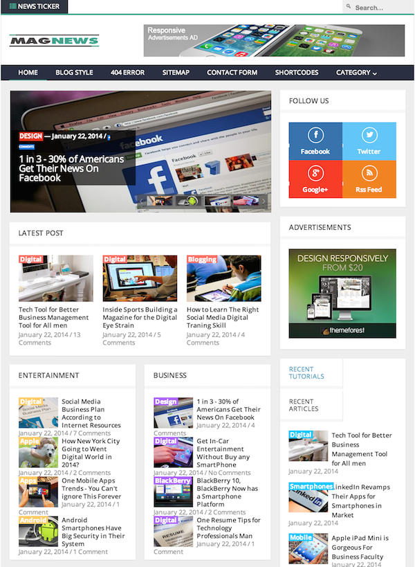 magnews-blogger-template