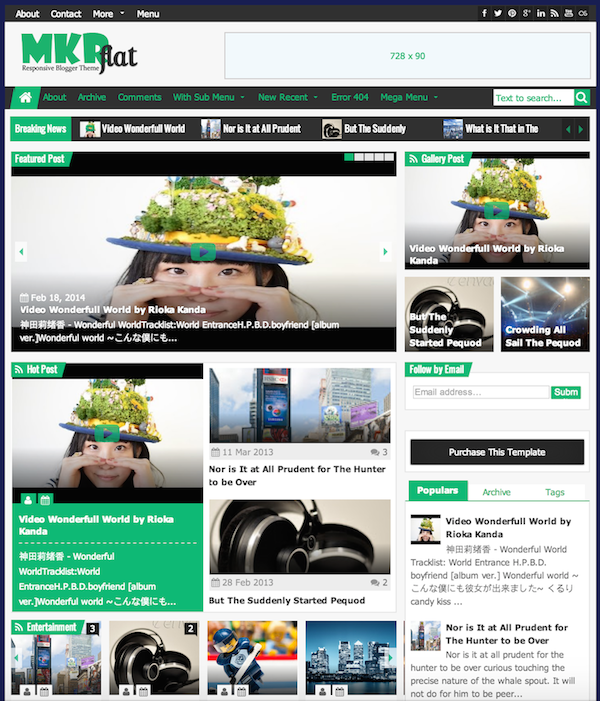 mkrflat-blogger-template