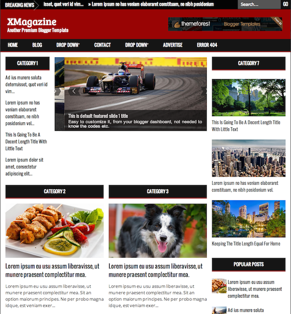 xmagazine-blogger-template