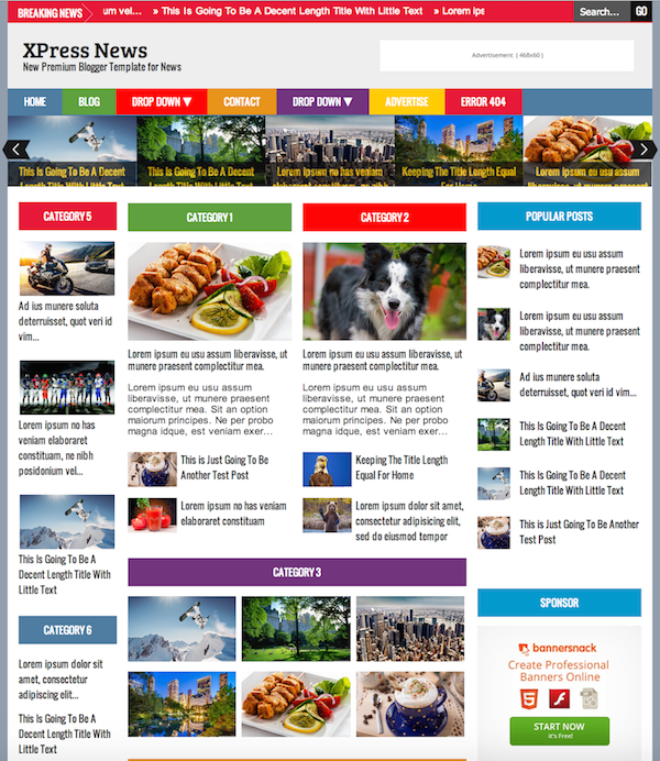 xpress-news-blogger-template
