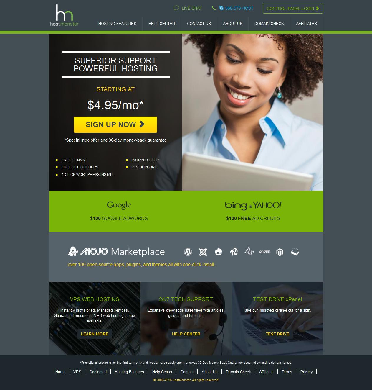 Hostmonstor Professional Web Hosting from HostMonster