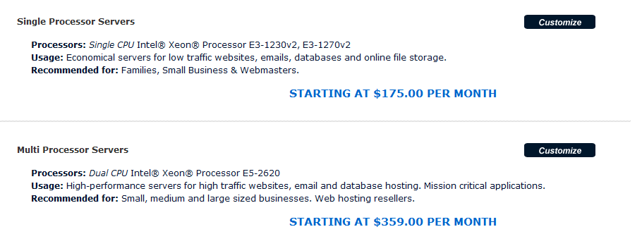 arvixe hosting plans