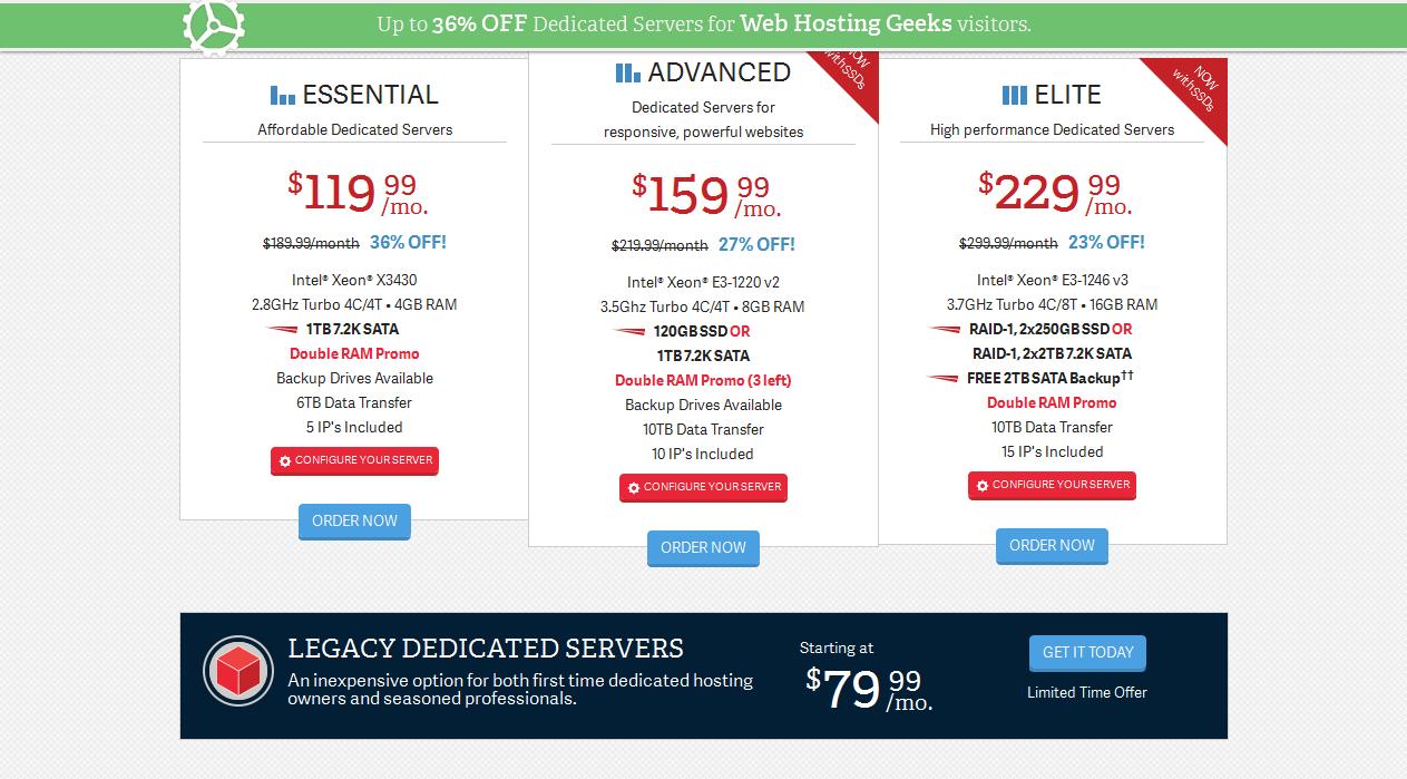dedicated server of inmotion hosting plans
