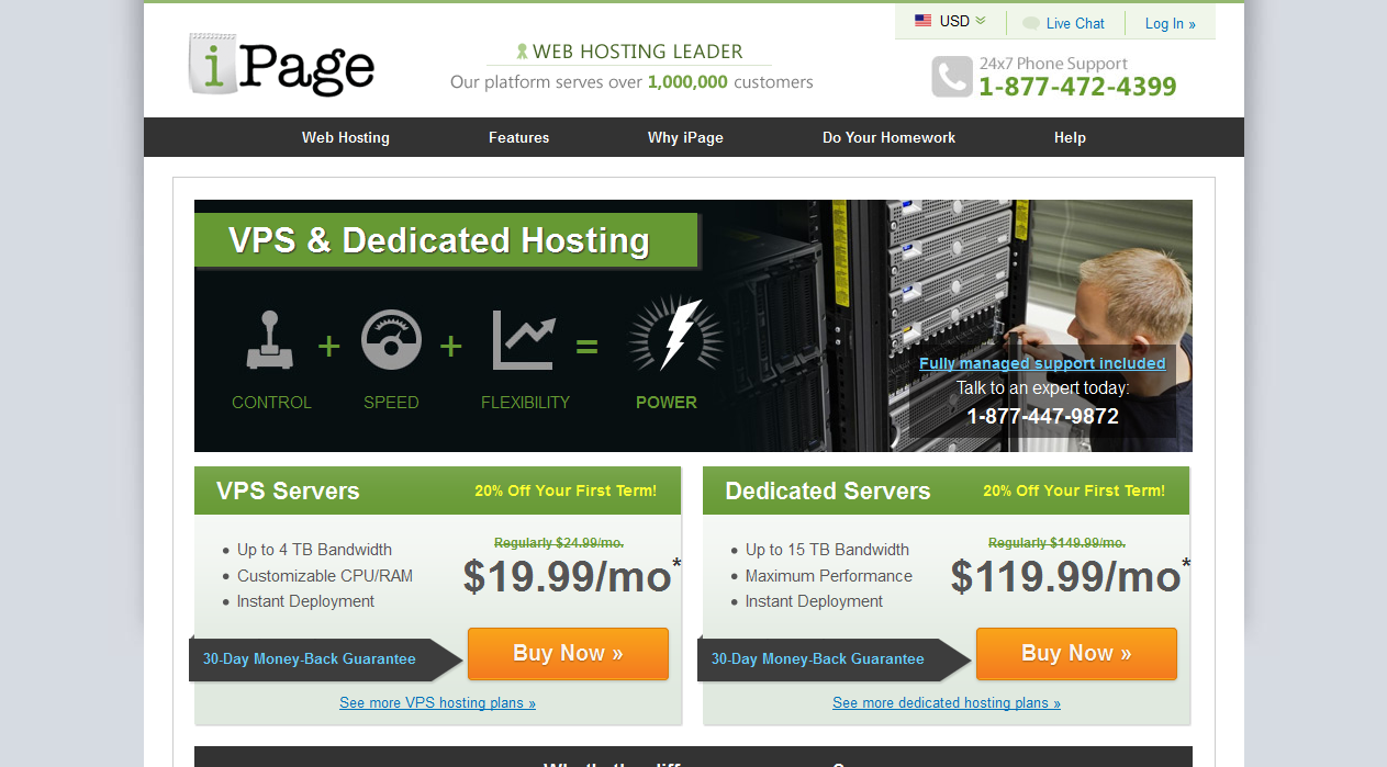 iPage dedicated server hosting