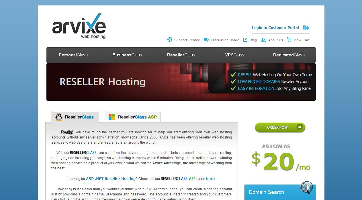 Reseller Hosting - Get Reseller Web Hosting by Arvixe