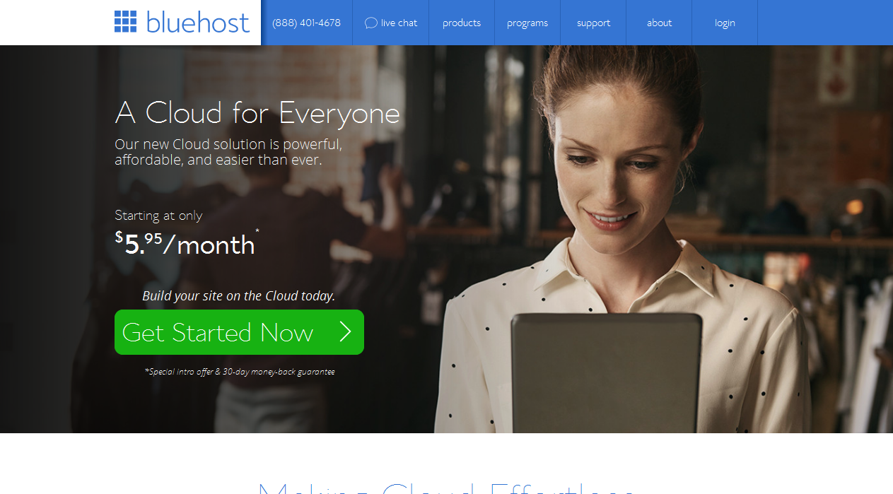 bluehost cloud sites