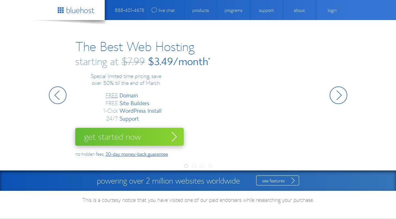 bluehost unlimited web hosting
